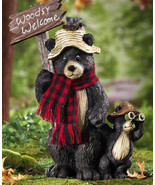 Northwoods Woodsy Welcome Bears Garden Statue New - $19.95