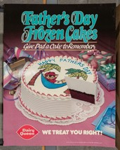 Vintage Dairy Queen Promotional Poster Father's Day Frozen Cakes 1988 dq2 - $14.84