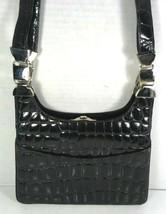 Glen Miller for Ann Turk Vintage Black Reptile Print Shoulder Bag – Made... - $48.49