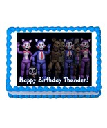 Five nights at Candy's FNaC  party edible cake image topper frosting sheet - $7.80