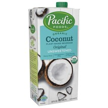 Pacific Foods Organic Coconut Unsweetened Original Plant-Based Beverage,... - $43.51