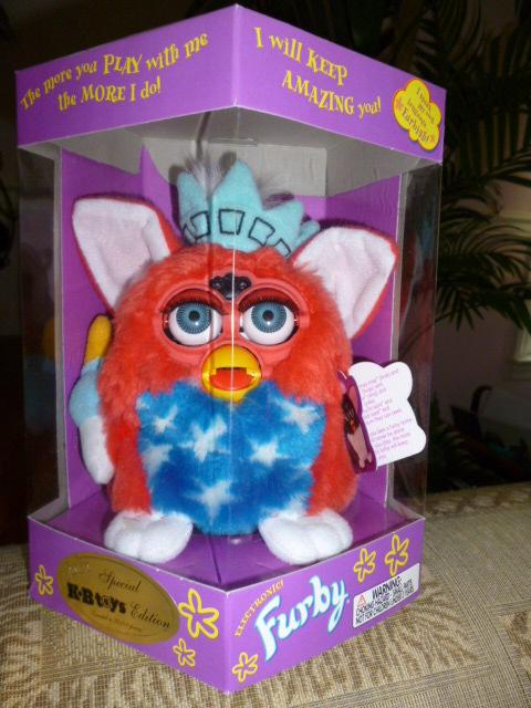 Original 1999 FURBY KB Toys Special Limited Edition Patriotic Furby NRFB