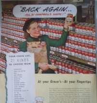Campbell's soups 21 Kinds To Choose From Advertising Print Ad Art 1947  image 2