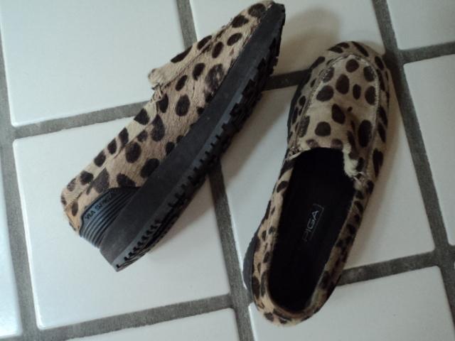 Via Spiga Pony Leopard Print Wedge Shoes 8 1/2 M