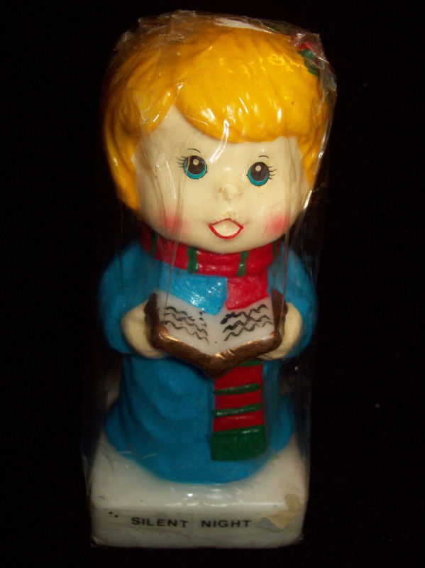 Vintage 1983 SILENT NIGHT CHOIR GIRL CHRISTMAS CANDLE Sealed Holiday XMAS X-MAS