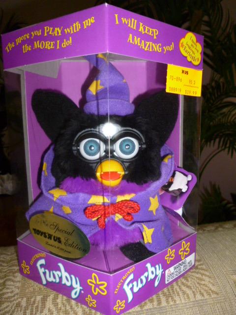 Original 1999 FURBY Toys R Us  Special Limited Edition Wizard Furby NRFB
