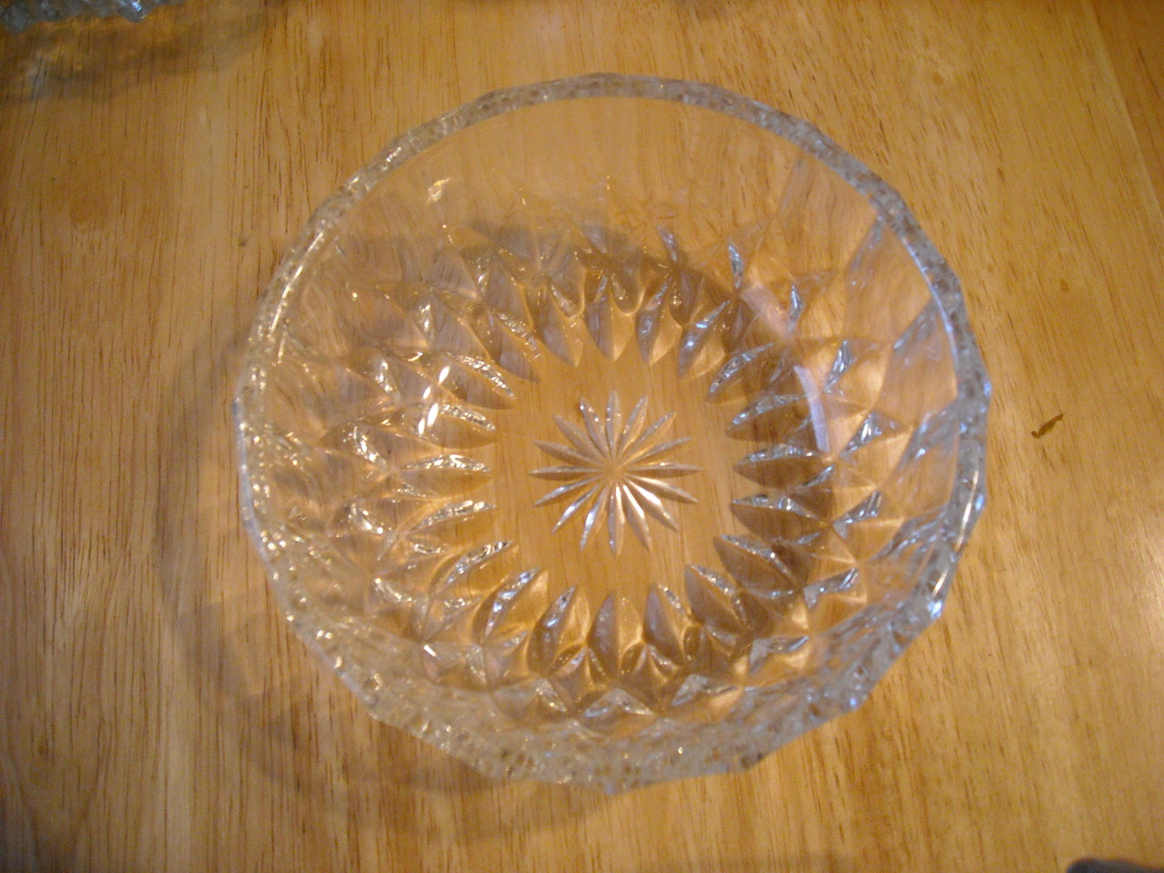 Glass bowl top