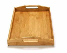 Puko Bamboo Wooden Kitchen Rectangle Handle Serving Tray Plate Serverware