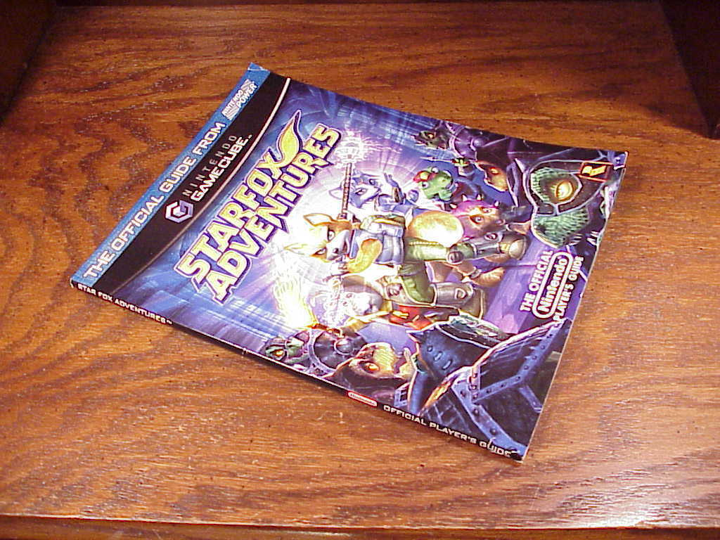 Starfox Adventure Gamecube Strategy Guide Book