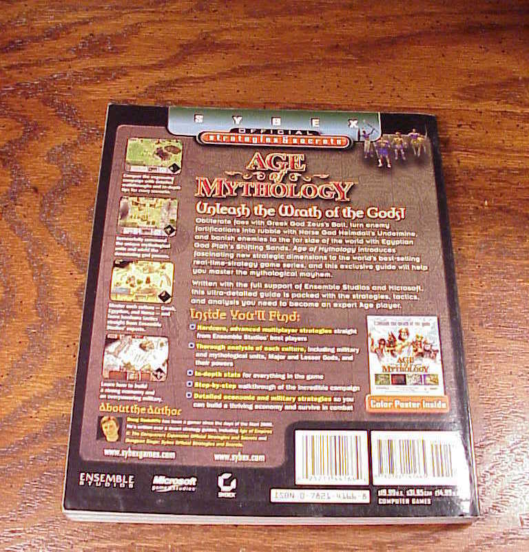 Age of Mythology PC Game Strategy Guide Book