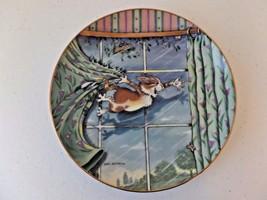 Vntg 1996 Danbury Mint Comical Cats Gary Patterson Plate Curtain Call LE #D6407 - $17.28
