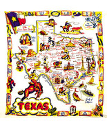 Vintage Style MAP OF TEXAS Cowboy Country Napkins ~ Set of 4  - $19.99