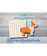 corgie   planner stickers   animal icon   for planner and bullet journal - $3.00+