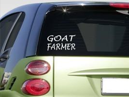 "Goat Farmer 8"" sticker E883 tractor boer goatmilk horn headcatcher shoot - $3.57"