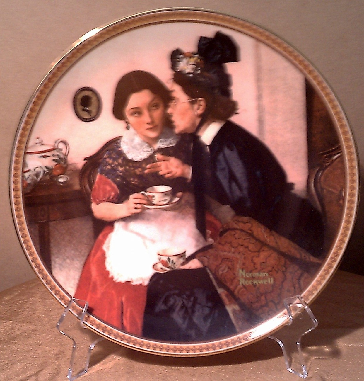 Gossiping In the Alcove Plate Rockwell's Rediscovered Women