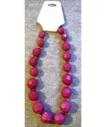 Ricki's Heavy bubble beaded Choker Style Necklace Fushia Color  - $2.99