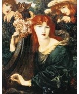 ANGELS & RED HAIRED WOMAN PLAYING HARP 24x18 Fine Art Print - $39.99