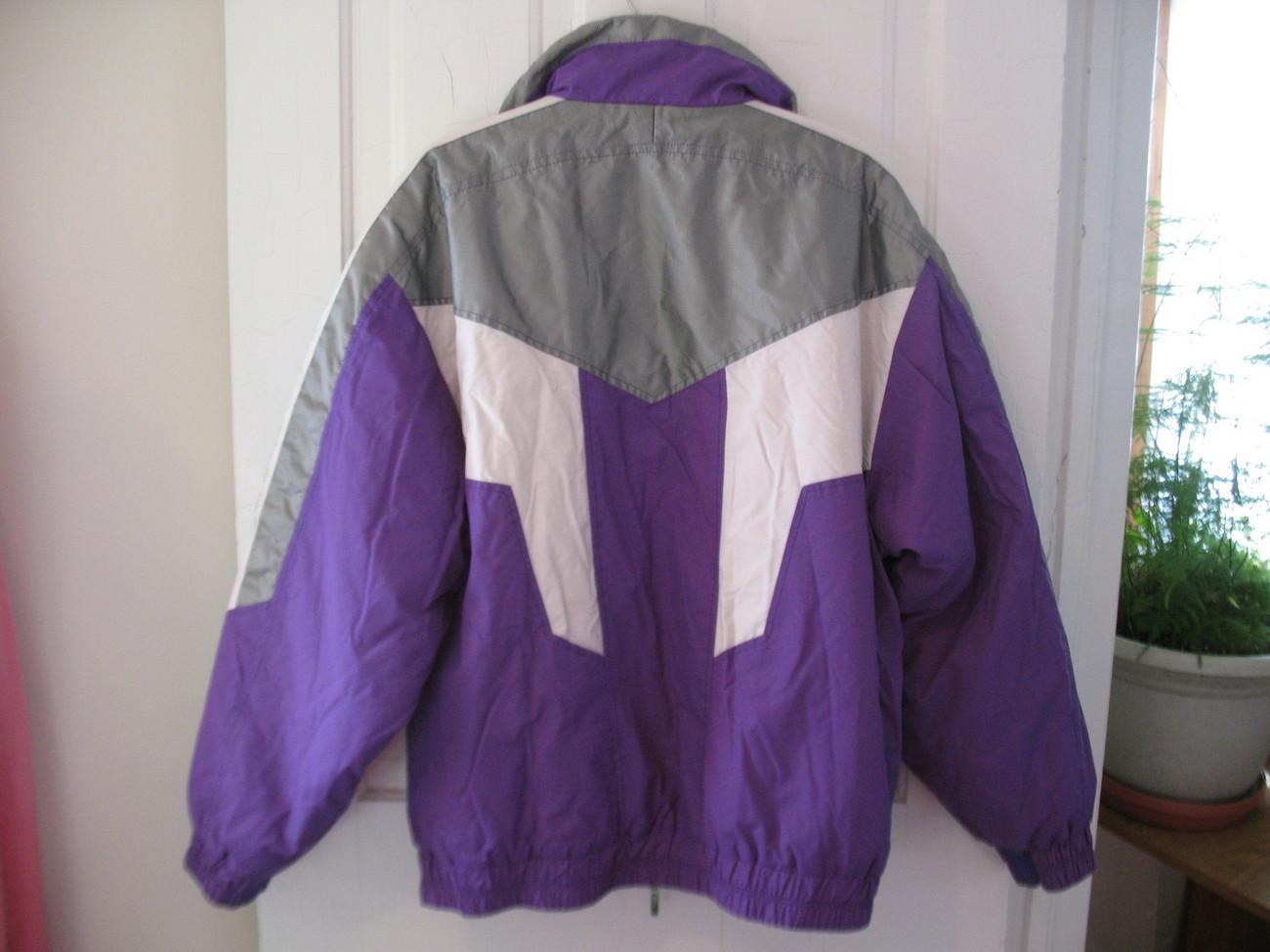 Ski doo Bombardier purple and white Snowmobile Jacket XL
