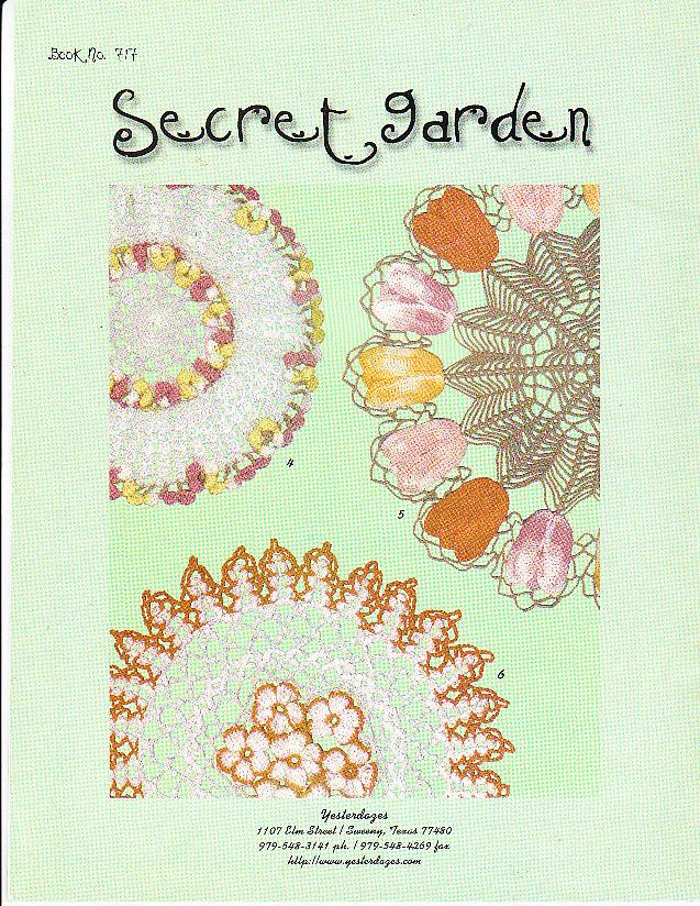 *Crochet Doilies Thread - 6 Secret Garden Doilies Butterflies