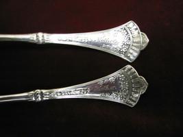 CROWN Silverplate Teaspoon Set Rogers Int'l Flatware 1885 Lot of 2 Mono ... - $24.74