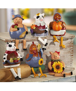 6 Pc Country Barnyard Animals Collectible Sitters New - $19.95