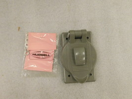 7425-WO Hubbell Gray in color; Weather Proof Lift Cover Plate For Single... - $34.39