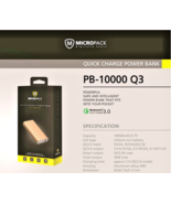 10050mAh PowerBank Quick Powerful Charge 3.0 Output Full Protection Syst... - $43.10 CAD