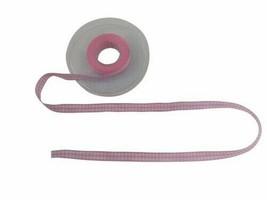 Gingham Check Light Pink White Ribbon 15mm 3 Lengths - $4.93+