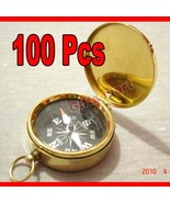 Brass COMPASS with Lid KEY CHAIN Wholesale LOT 100pcs NAUTICAL GIFT  Low... - $250.00