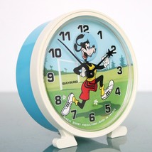 BAYARD GOOFY Alarm Clock Disney Mantel Motion! ANIMATED Feature! Vintage... - $195.00