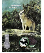 Wolf premium Tobacco Color Print Ad. Trust Your Instincts 2003 Very Good - $3.50