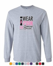 I Wear Pink for Someone Special Long Sleeve T-Shirt Breast Cancer Awaren... - $10.50+