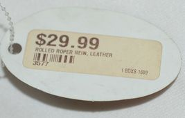 Pioneer Horse Tack 3577 Rolled Leather Roping Rein light Tan Color image 4