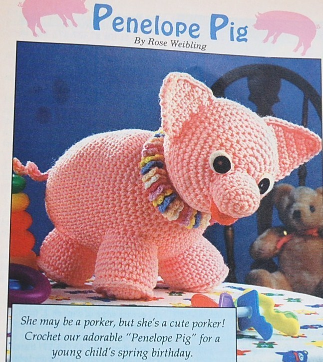 Penelope Pig Crochet Pattern/Crochet World