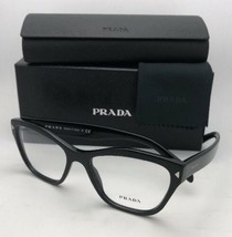 New PRADA Eyeglasses VPR 27S 1AB-1O1 53-17 140 Shiny Black Cat Eye Frame