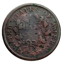 1803 Busto Drapeado Half Cent 1/2C ( Bueno, G Estado) Completa Fuerte Fecha ! image 4