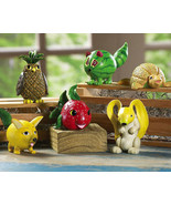 Animal And Fruit Shelf Sitters New - $19.95
