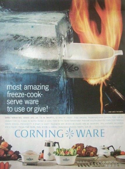 Corning Ware Rosemarie 3 L Sq Saucepan A-3-B Pyroceram USA