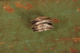 Vintage Sterling Silver .925 Israel Multi-layer Ring Size  - $44.55