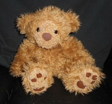 VINTAGE FIRST & MAIN SCHNOOKUMS BROWN BABY TEDDY BEAR STUFFED ANIMAL PLU... - $23.38