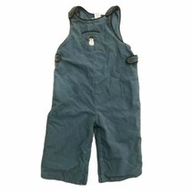 Janie and Jack lightweight corduroy snowman overalls 6-12 mos Blue - $13.85