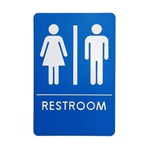 Unisex Restroom Sign, ADA-Compliant Bathroom Door Signs for Offices, Businesses,