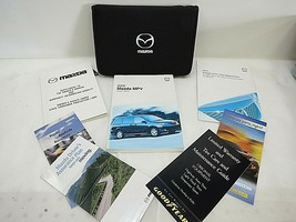 2005 05 MAZDA MPV OWNER'S MANUAL SET BOOK OEM NICE BLACK CASE. CLEAN! - $14.80