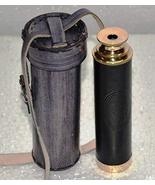 Handheld Brass Pirate Navigation Telescope with With Leather Case Pouch-... - $22.76
