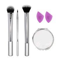 Women Makeup Brush Set with Makeup Blender Beauty Sponges Set of 6 - $19.04