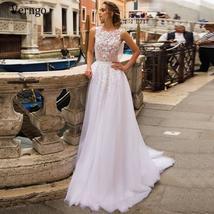 Elegant 3D Floral Lace Applique Luxury Bridal Gown A-Line Tulle Skirt image 4