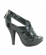 38.5 / 8 US - Burberry Black Textured Patent Leather Platform Heels 0805KS - $170.00