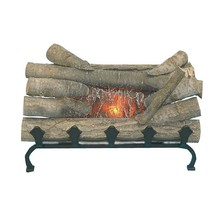 Electric Realistic Fireplace Crackling Real Log wood Gas Grate Burner or... - $64.52