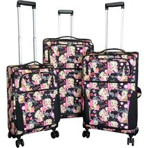 Betty Boop Multicolored 3 piece Expandable Spinner Luggage Set  - $131.44