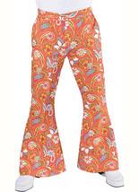 70's Flared Trousers , Orange Paisley Fabric  - $31.41